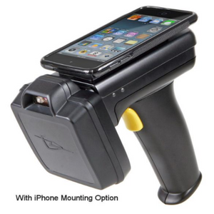 idChamp® 1128 (TSL 1128) Bluetooth® UHF Reader/Writer Smartphone mounting option iOS Android Windows 2D Barcode Scanner