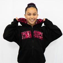Hot Pink Animal Print | Zip Up Sweatshirt
