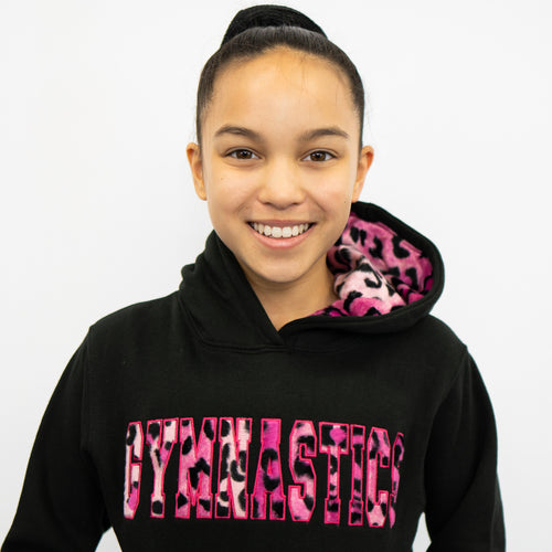 Hot Pink Animal Print | Hoodie Sweatshirt
