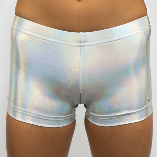 Shiny Silver Shorts