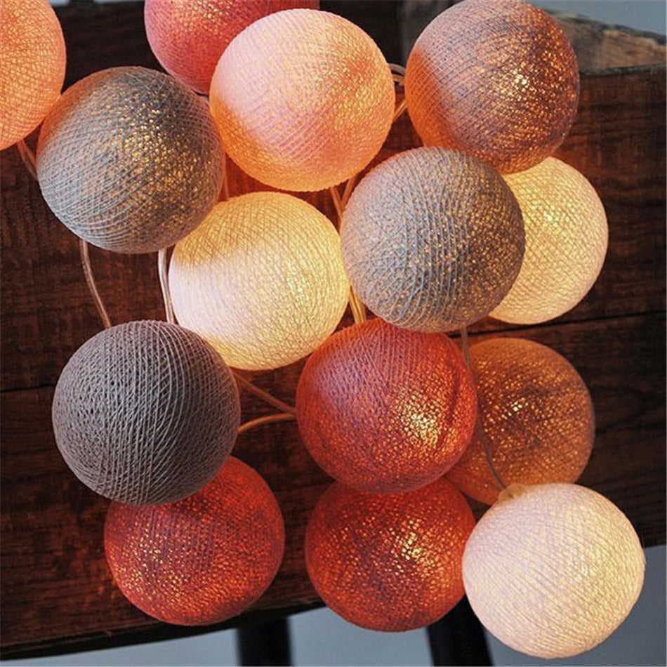 Warm Palette, Cotton Decorative String LED Lights
