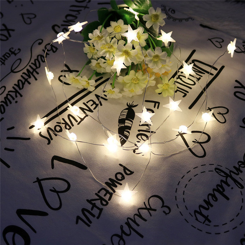 20 LED Star Shaped String Lights