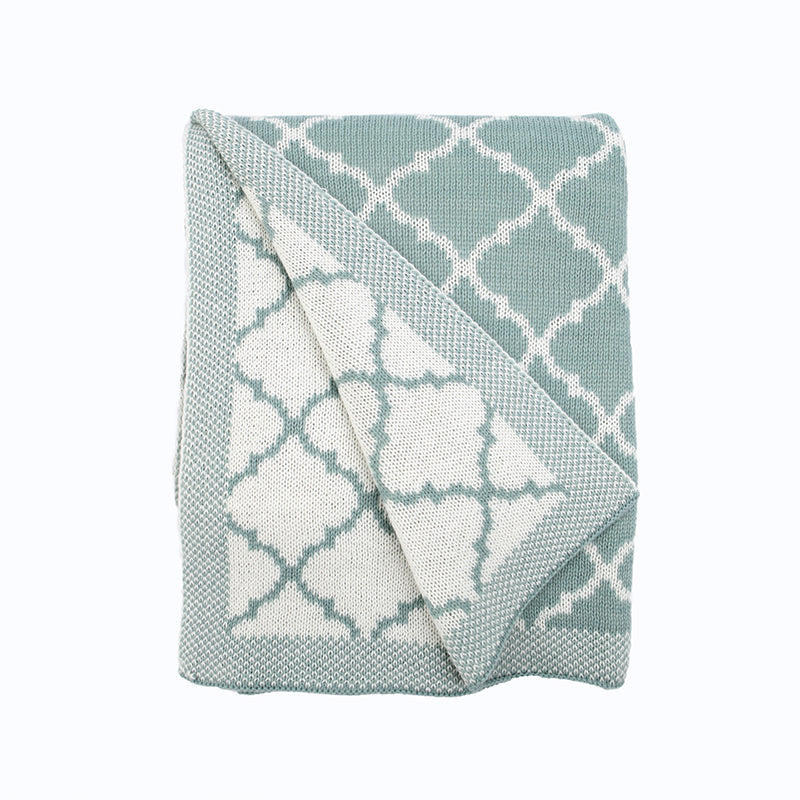 'Le Bleu Vignette' Cotton Throw