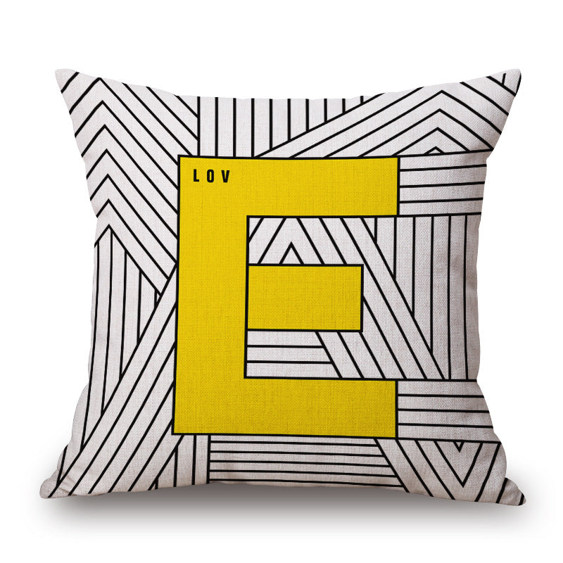 Geometric Nordic Yellow Pillows