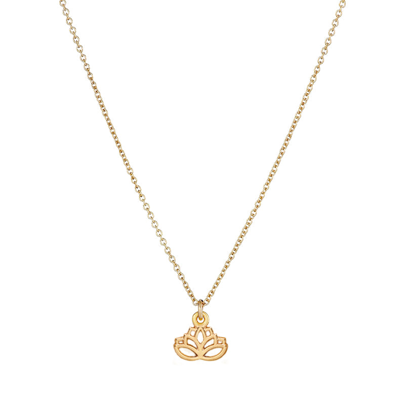 """New Beginnings"" Gold Lotus Necklace"