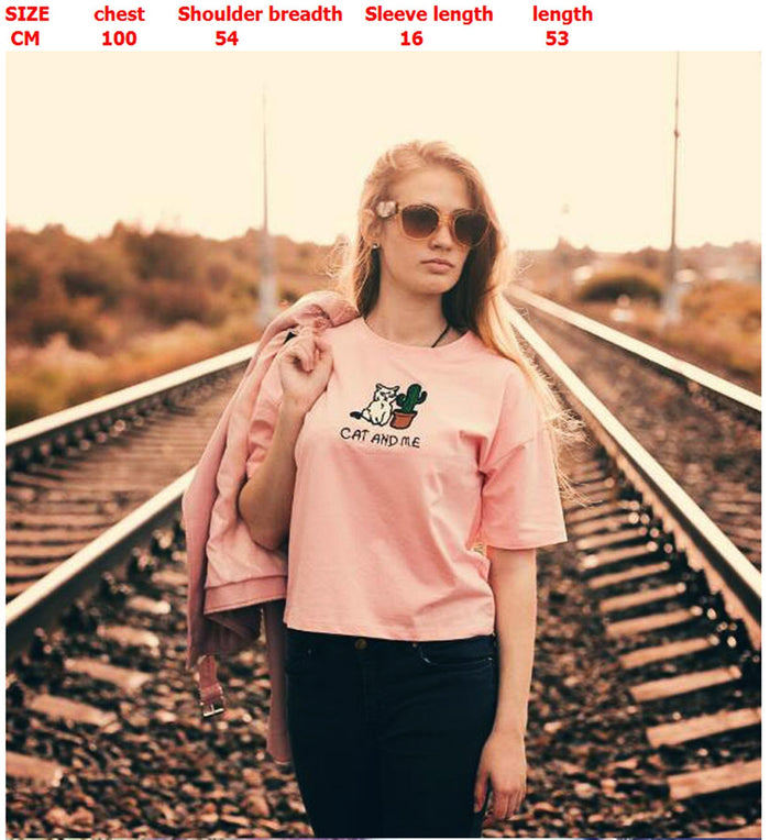 Cat And Me And Cactus T-Shirt