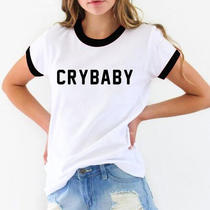 CRY BABY T-SHIRT-Shop My Aesthetic
