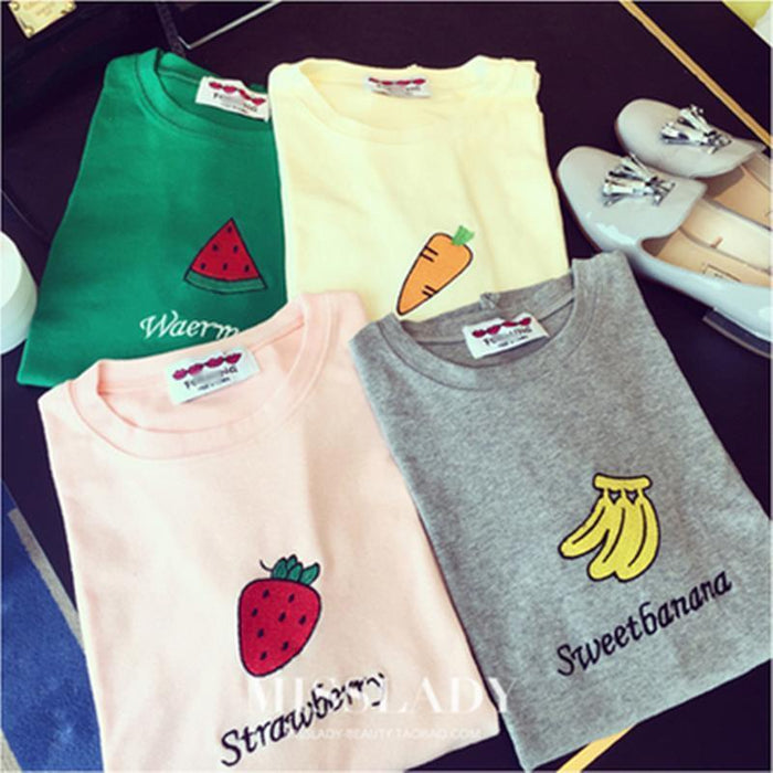 CUTE FRUITS T-SHIRT-Shop My Aesthetic