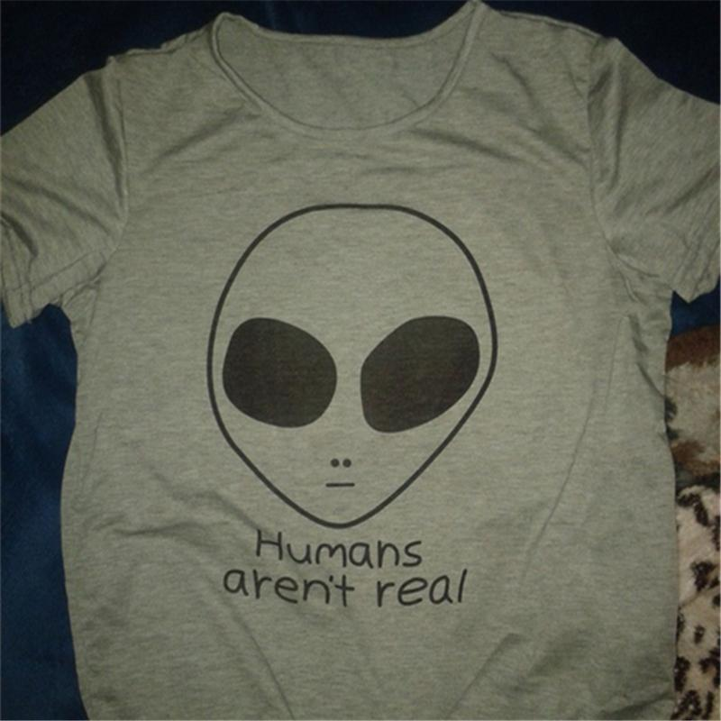 HUMANS AREN'T REAL T-SHIRT-Shop My Aesthetic
