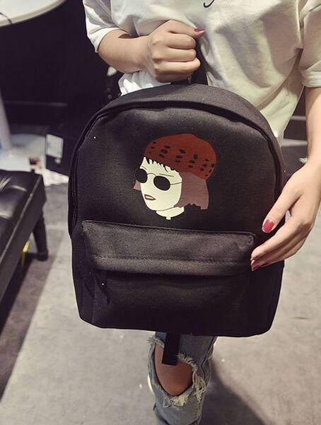 Matilda or Leon Printed Canvas Backpack-Shop My Aesthetic