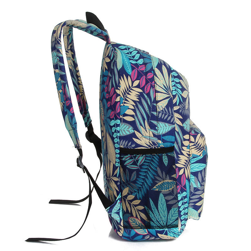 Tropical Leaves Printed Backpack