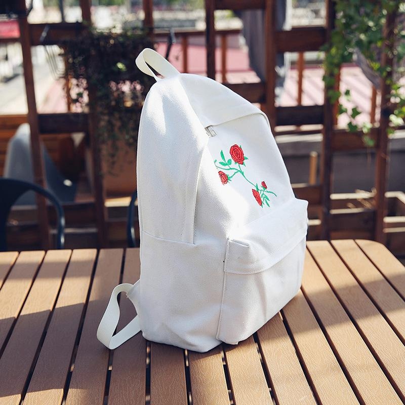 Rose Embroidery Backpacks