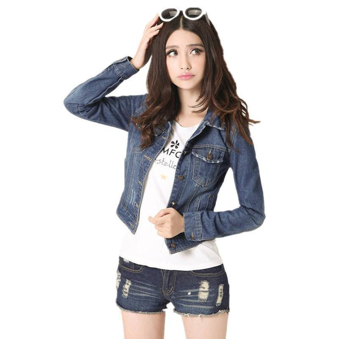 SHORT STYLE JEAN JACKET-Shop My Aesthetic