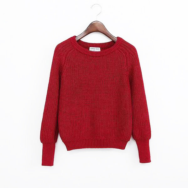 Solid Color Casual Sweater