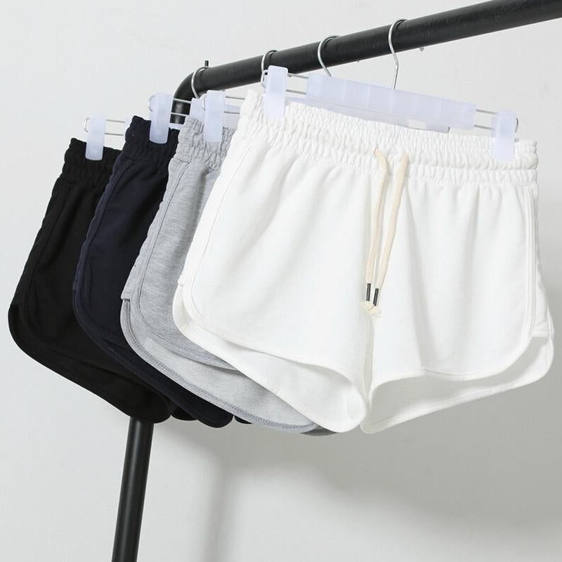Street Fashion Elastic Waist Shorts