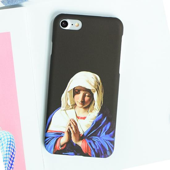 Vintage Art Statue Virgin Maria iPhone Cases