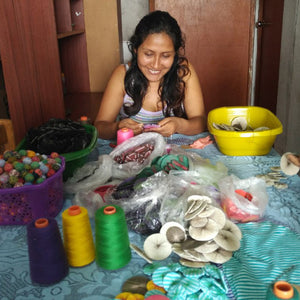 The Story of our Recycled Textile Jewelry