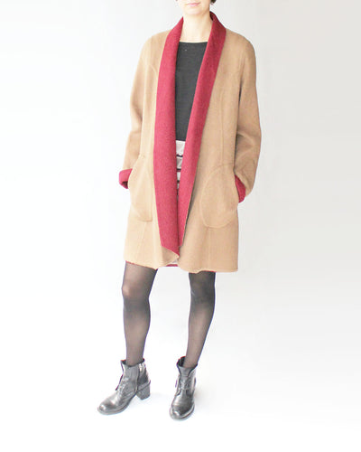 Reversible Alpaca Swing Coat