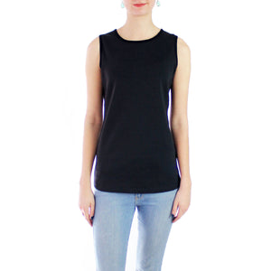 Luxe Cotton Crewneck Muscle Tank
