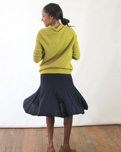 New Godet Knit Alpaca Skirt