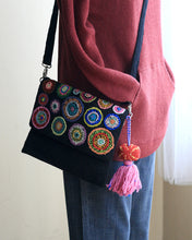 Allium Embroidered Wool Handbag