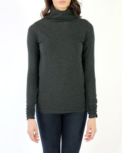 Pima Cotton Funnel Neck Tee