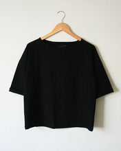 Pima Cotton Oversize Crewneck Easy Tee