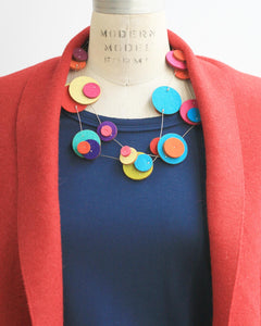 Dottie Recycled Textile Necklace
