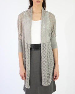 Journey Knit Pima Cotton Bamboo Crepe Open Cardigan