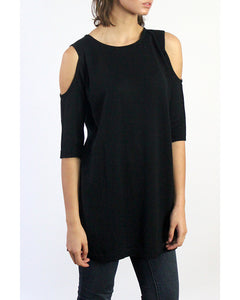 Open Shoulder Peekaboo Cotton Tunic