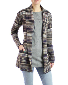 Tapestry Pima Cotton Belted Cardigan