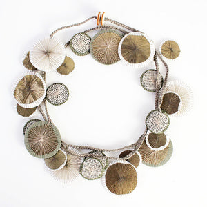 Platillos Recycled Textile Wrap Necklace