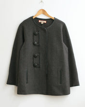Tabatha Felted Alpaca Jacket with Leather Detail