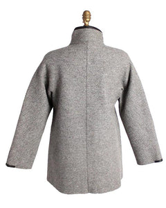 Natasha Felted Alpaca Jacket with Leather Trim