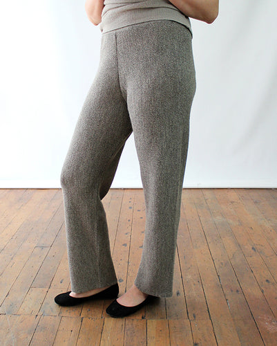 Links Knit Alpaca Straight Leg Pants