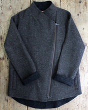 Diagonal Zip Alpaca Jacket