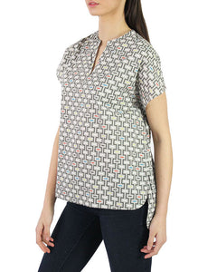 Pima Cotton Woven Alegria Hi-Low Tunic