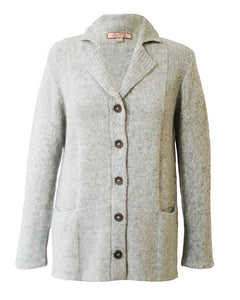 Essential Plush Baby Alpaca Knit Blazer Cardigan