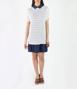 Pima Cotton Wave Eyelet Pullover