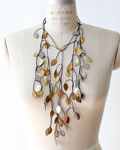 Vine Recycled Textile Necklace
