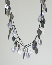 Vine Wrap Recycled Fiber Necklace in Pewter