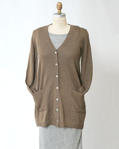 Baby Alpaca Lightweight Pocket Cardigan