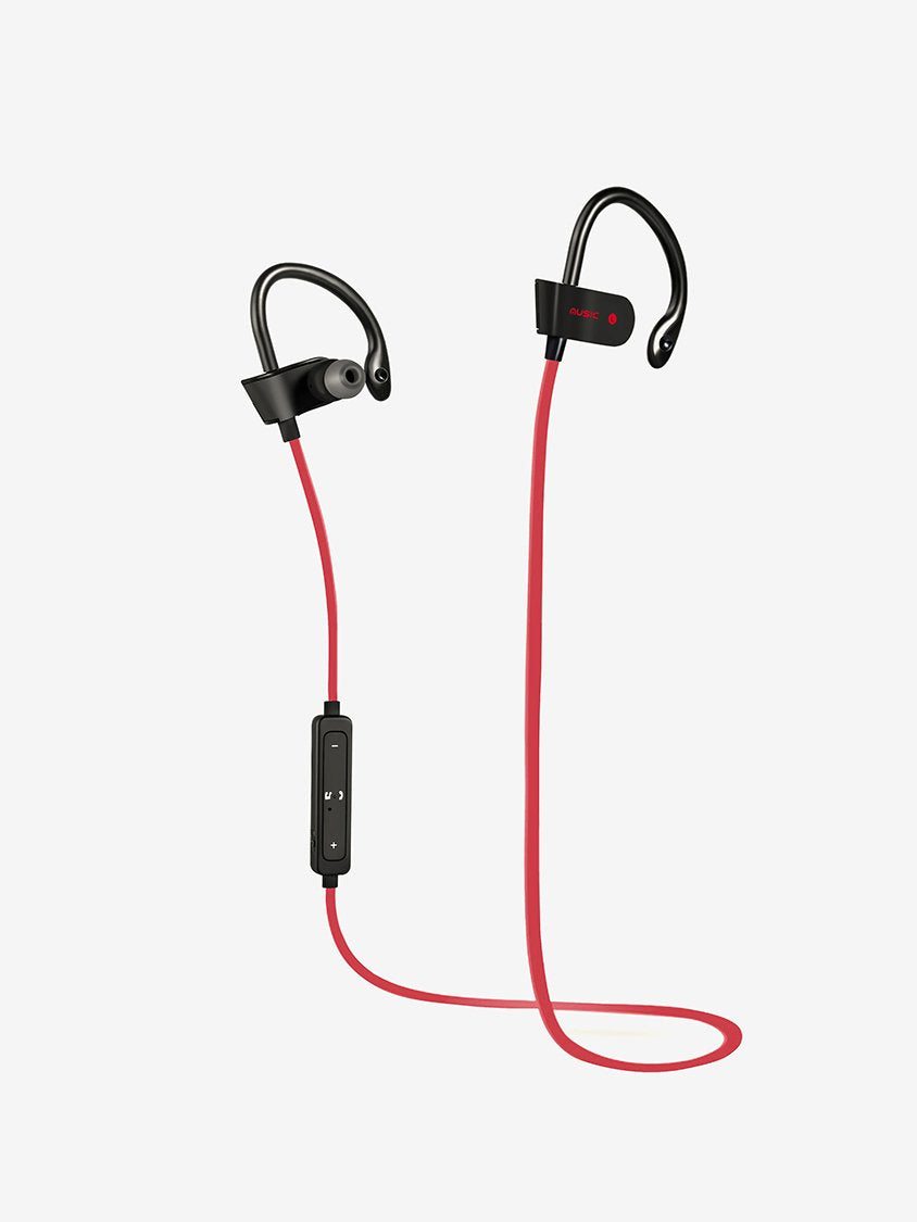 Bluetooth Wireless Hanging Earphones in Red