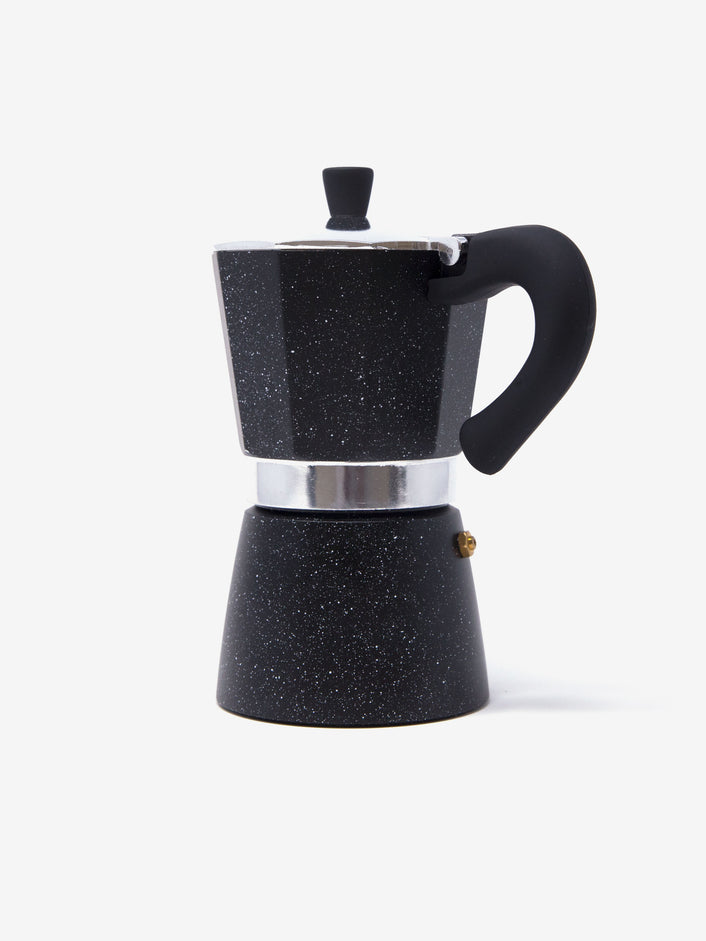 Custom Stovetop Espresso Moka Pot in Black