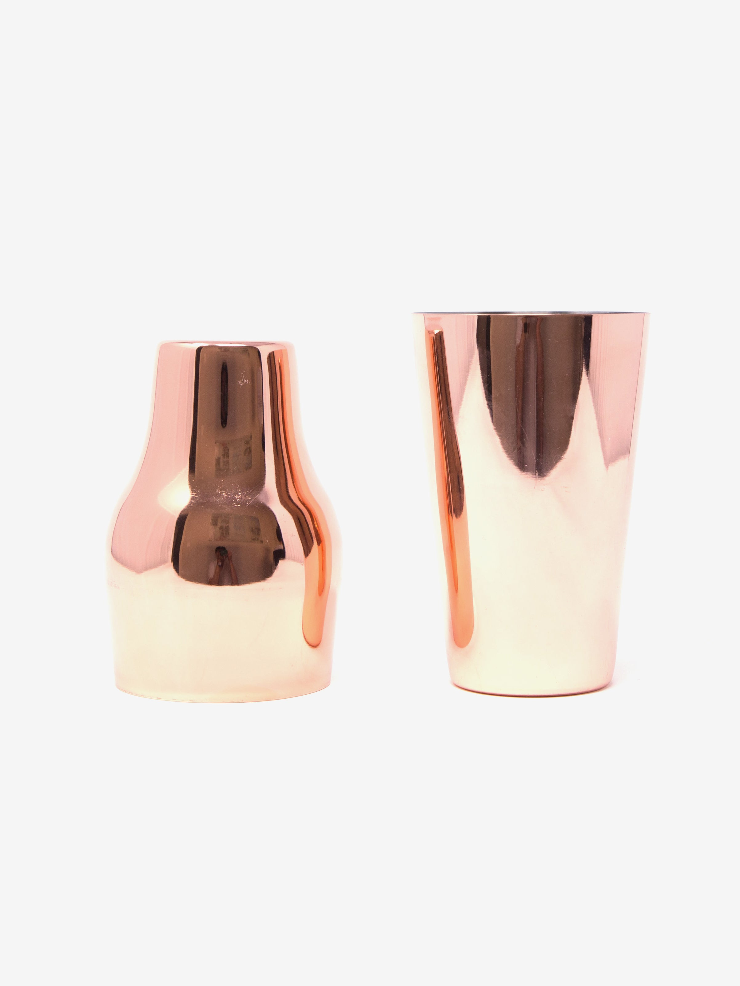 Stainless Steel Cocktail Shaker in Rose Gold