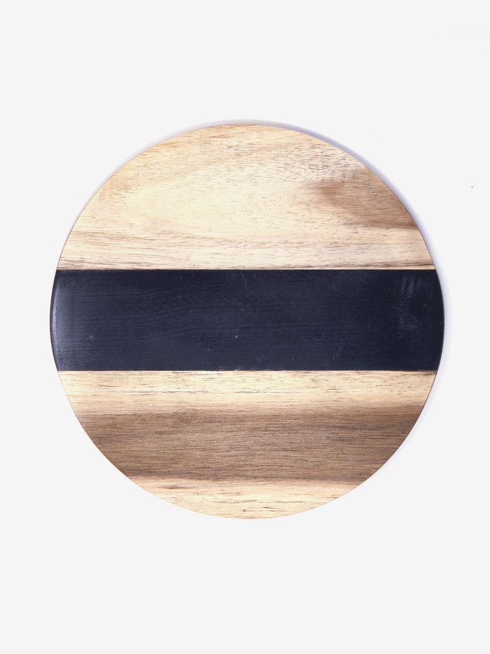 Cutting Board in Black Marble and Wood