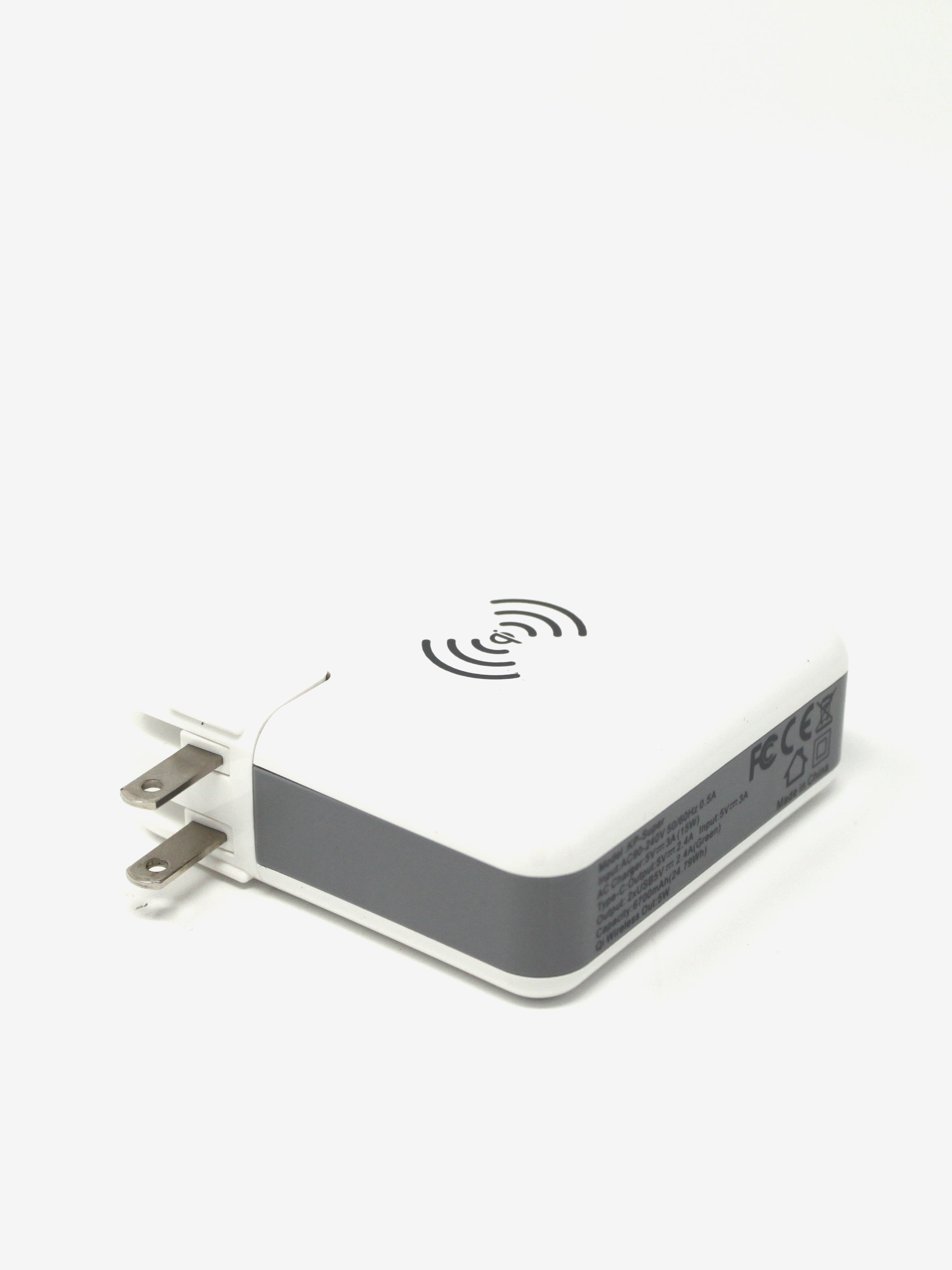Travel Qi Wireless Super Charger in White