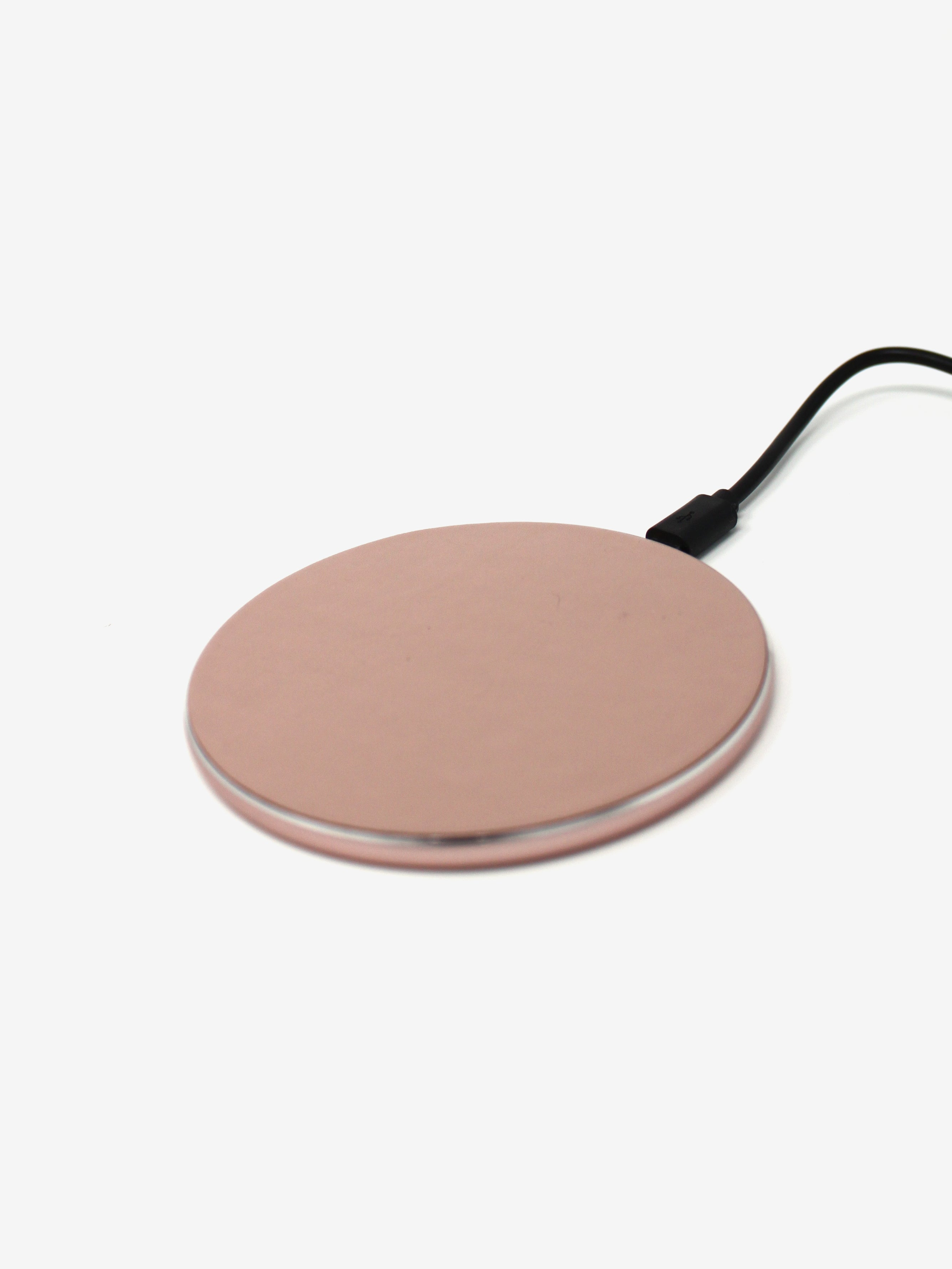 Qi Wireless Quick Charger in Rose Gold