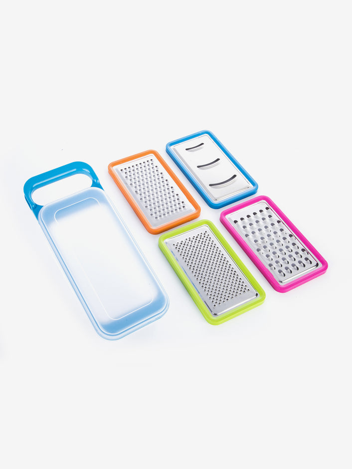 Multi-Functional Grater Set in Rainbow Blue