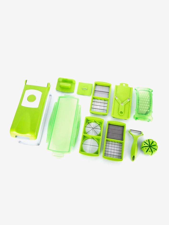 12-in-1 Vegetable Chopper in Neon Green